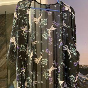 💵✂️Black tinker belle kimono